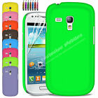 New Hard Back Case Cover For SAMSUNG GALAXY S3 MINI i8190 Free Screen Protector