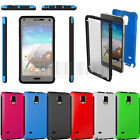 Hybrid Rubber Durable Case Hard Cover Built Film For Samsung Galaxy Note 4 N910