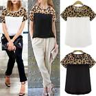 HOT Plus Size 8-24 Fashion Ladies Leopard Chiffon Women Top Shirt Blouse T-shirt