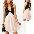 Elegant Sexy Womens Chiffon Sleeveless Slim Clubwear Cocktail Party Mini Dress