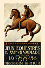 Horse Olympics Stockholm Sweden Equestrian Sport Vintage Poster Repro FREE SHIP