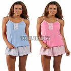 new ladies SOFT JERSEY CAMI TOP AND SHORT pyjamas SUMMER HOLIDAY  C214