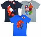 Boy's Official Disney Big Hero 6 Baymax T-Shirt Top 4 6 8 10 Years NEW