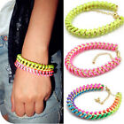 Fashion Colorful silk thread woven Fluorescence line winding charms Bracelet