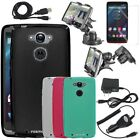 Frosted Matte ULTRA-THIN TPU Case Cover w/ Accessories for Motorola DROID Turbo