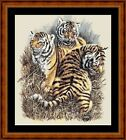 BABY TIGERS - PDF/PRINTED CHART WITH OR WITHOUT THREADS IN 14,16 OR 18 COUNT