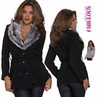 New Sexy Womens Faux Fur Jacket Size 10 12 6 8 Coat Outerwear Blazer XS S M L