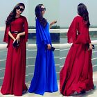 Charming Cloak Chiffon Pleated Women's Full Length Maxi Long Evening Party Dress