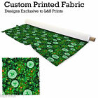 ST PATRICKS DAY DESIGN FABRIC LYCRA SPANDEX ALOBA POLYESTER SATIN L&S PRINTS