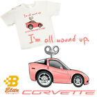 C6 'I'm All Wound Up' Youth White Corvette Tee Shirt