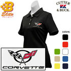 C5 Corvette Embroidered Ladies Cutter & Buck Ace Polo Shirt