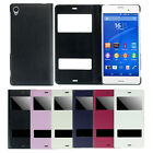 Double View Window Stand Flip Leather Cover Case for Sony Xperia Z3 Hottest