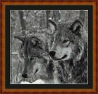 WOLVES -14 COUNT CROSS STITCH CHART PDF/PRINTED  FREE PP WORLDWIDE