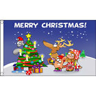 Merry Xmas, Father Christmas, Reindeer, Christmas Tree Flags, Happy  3 designs