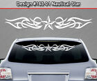 Design #165-01 NAUTICAL STAR Back Window Decal Sticker Graphic Tribal Accent Car