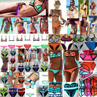 Latest!Women Triangle Neoprene BIkINI SET Swimsuit Push-up Neon Bandage Swimwear