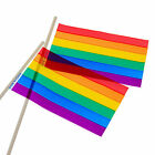 Rainbow Party Flags Pack Of 12 Gay Pride Flags Set 12 Pieces FREE USA SHIPPING