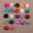 "40pc sewing wrinkle Satin Fabric corsage hair Flowers 1.57"" wedding 20color pick"