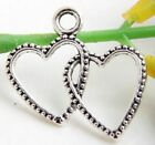 Wholesale 31/69Pcs Tibetan Silver Heart Charms 23x20mm(Lead-free)