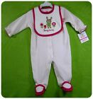 New NWT CARTERS 2p SLEEPER-ROMPER+ BIB~HONEY BUNNY BABY GIRLS EASTER NEWBORN& 3m