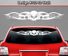 Design #123-02 Skull Rear Window Decal Sticker Vinyl Graphic Tribal Car Truck