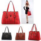 Ladies Designer Leather Style Celebrity Tote Bag  Shoulder Satchel Handbag chic