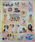 Sheet of Silver-edged photographic Puppy or Kitten Stickers NEW