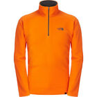 The North Face 100 Glacier Quarter Zip Mens Jacket Fleece - Persian Orange