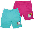 Girl's Official Hello Kitty Turn Up Summer Cotton Fashion Shorts 4 6 8 10 Years