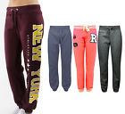 Ladies Fleece Sweat Casual Sport Joggers Womens New York Jogging Bottoms Trouser