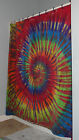 Tie Dye Dyed Rainbow Heavy Cotton Luxury Fabric Shower Curtain Washable 2 styles