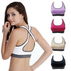 New Women Padded Bra Top Athletic Vest Gym Fitness Sports Yoga Stretch Free Ship