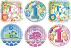 "1st Birthday 9"" Round/Square Plates (First/Boy/Girl/Party/Tableware) (Unique)"