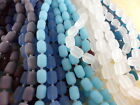 2 Strands Sea Glass 26 beads 13mm Barrel Beads You Pick Color
