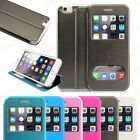 "For Apple iPhone 6 4.7"" inch Magnetic Flip Wallet View Window Skin Case Cover"