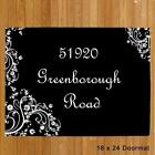 Personalized Welcome Doormat Custom Printed Black  Address Doormat any 3 Lines