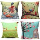 Pastoral Painting Linen Cotton Cushion Cover Throw Pillow Case Home Sofa Decor