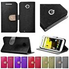 WHOLESALE LOT For Moto E LTE 2015 2nd Generation Shiny Leather Wallet Cover Case