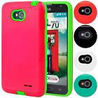 Slim Armor Hybrid TPU Anti-Shock Hard Case For LG Optimus L70 MS323 Exceed 2