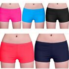 Women Plain Swim Yoga Shorts Bikini Swimwear Short Knickers Bottom Beach Pants S
