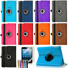 360 Rotating PU Leather Case Cover Stand For Apple iPad Mini 1 2 3