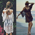 Sexy Hot  Women Beach Wear Swimwear Lace Bikini Cover Up Summer Mini Dress Tops