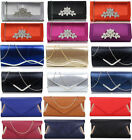 Ladies Fashion Designer Diamante Crystal Clutch Evening Purse Women's Wedding 94
