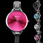 Oversize Bezel Fashion Watch with Stainless Steel Narrow Band for Woman E0Xc