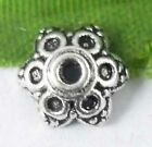 Wholesale 70/154Pcs Tibetan Silver  Bead Caps 8x4mm(Lead-free)