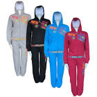 Ladies New Sports Gym Athletic NYC Tracksuit Hooded Zip Up Casual Sweatsuit Size