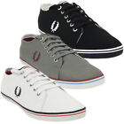 Mens Trainers Fred Perry Canvas Trainer Shoe Footwear