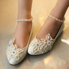 Resplendent Sparkling Pearl Wedding Formal Party Evening Party Dress Flat shoes