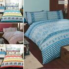 Ethnic, Moroccan or Indian, Elephant, Floral Paisley Print Duvet Quilt Cover Set
