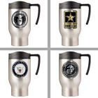 Choose Your US Military Branch 16oz Stainless Steel Insulated Travel Mug